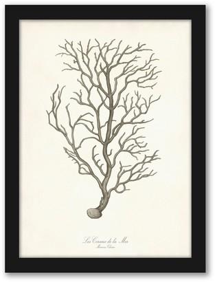 "Americanflat ""Greige Branch"" Framed Wall Art"