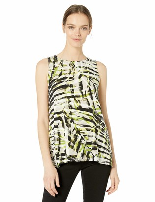 Kasper Women's Sleeveless Printed Knit TOP