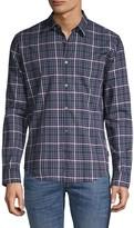 John Varvatos Checkered Long-Sleeve Shirt