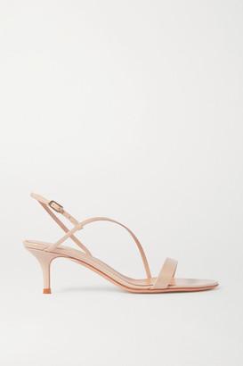 Gianvito Rossi Manhattan 55 Patent-leather Sandals - Beige