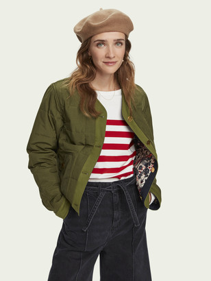 Scotch & Soda Reversible padded quilt jacket   Women