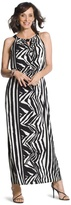 Chico's Knit Zebra Maxi Dress
