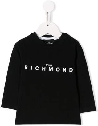John Richmond Junior logo long-sleeve top