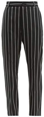 Vivienne Westwood James Bond Slim Leg Wool Trousers - Womens - Black White