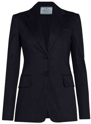 Prada Satin Two-Button Fitted Jacket