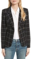 Smythe Women's Duchess Windowpane Linen Blazer