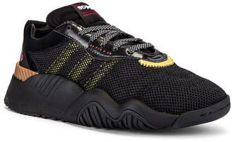 Adidas Originals By Alexander Wang Turnout Trainer Sneaker in Core Black & Yellow & Light Brown | FWRD