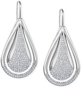 Swarovski Pavé Teardrop Orbital Earrings