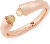 Vince Camuto Rose Gold-Tone Stone Bangle Bracelet