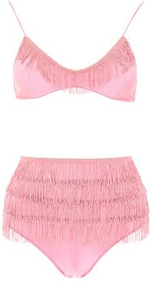 Oseree Fringe Detailed Bikini Set
