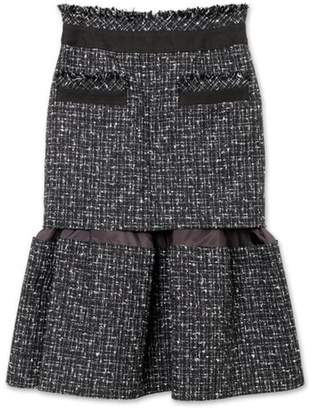 Sacai Tweed Midi Skirt