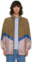 Fendi Brown Suede and Nylon Windbreaker Jacket