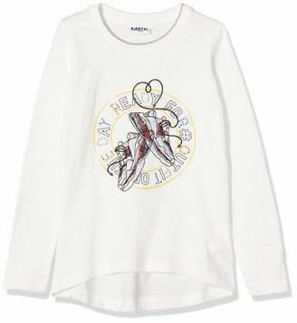 MEK Girl's T-Shirt Jersey Slub Long Sleeve Top