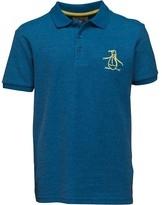 Original Penguin Junior Boys Core Big Logo Polo Snorkel Blue