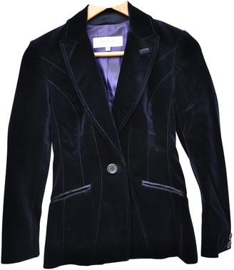 Karen Millen Navy Velvet Jacket for Women