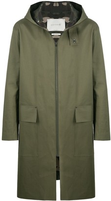 MACKINTOSH Eldrick raw edge bonded hooded coat
