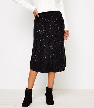LOFT Sequin Sweater Midi Skirt