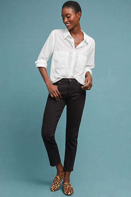 Citizens of Humanity Elsa Mid-Rise Slim Cropped Jeans