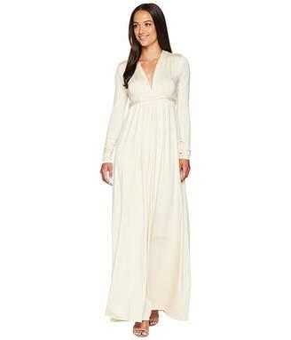 Rachel Pally Long Sleeve Full Length Caftan (Cream) Women's Dress