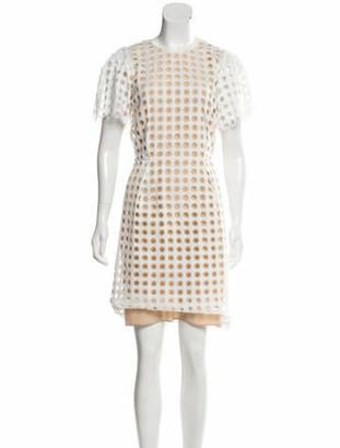 Chloé Guipure Lace Sheath Dress tan