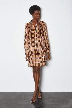Karen Millen 70s Check Shirt Dress