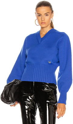 Victoria Beckham V Neck Sweater in Electric Blue | FWRD