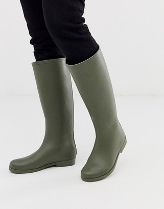 Asos Design DESIGN Gracious wellies in green