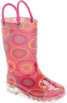 Western Chief 'Carnival Dots' Light-Up Rain Boot (Toddler & Little Kid)