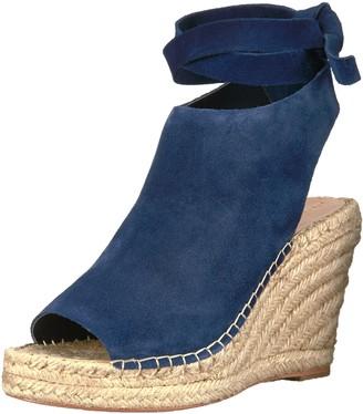 Loeffler Randall Women's Lyra Ankle Tie (Suede) Espadrille Wedge Sandal