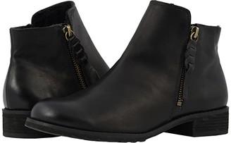 Walking Cradles Kason (Black Rustic Leather) Women's Zip Boots