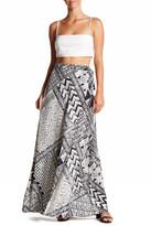 BCBGMAXAZRIA Crepe Maxi Wrap Skirt