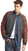 Gap Leather varsity jacket