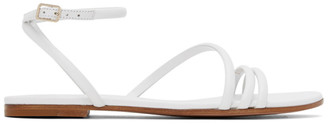 Gianvito Rossi White Bekah 05 Sandals
