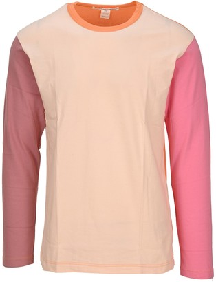 Comme des Garçons Shirt Logo Colour Block Long Sleeve T-Shirt