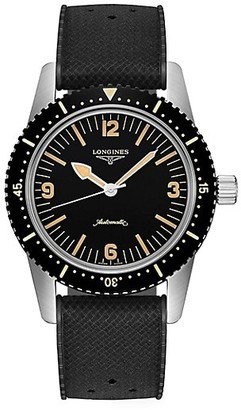 Longines Skin Diver Stainless Steel, PVD & Rubber Strap Watch