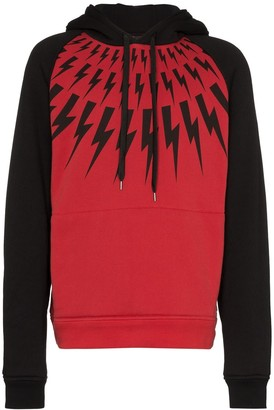 Neil Barrett Thunderbolt print hoodie
