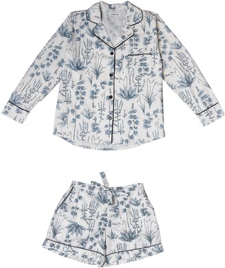 Phriya Women's Gray Circe's Garden Pajama Set With Shorts