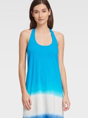 DKNY Women's Dip Dye Sleeveless Maxi Dress - Fiesta Pink/Electric Blue - Size XS