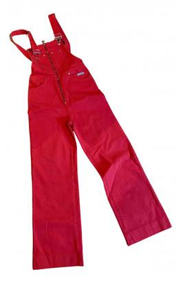 ALEXACHUNG Alexa Chung Red Cotton Trousers