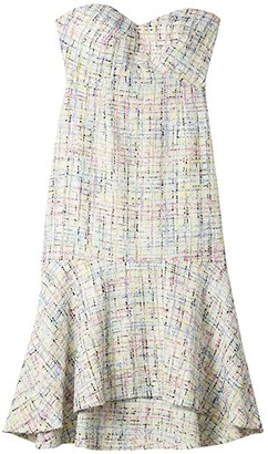 Sam Edelman Strapless Sweetheart Midi Dress (Ivory Multi) Women's Dress