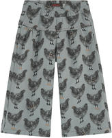 Catimini Baggy printed gabardine pants