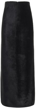 Alaia Felted double-jersey skirt