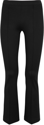 Helmut Lang Black Flared Jersey Leggings