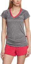 Zoot Sports Women's Run Sunset Tee: Black Heather/Punch Pink LG