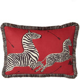 "Scalamandre Maison by Eastern Accents Le Zebre Right-Facing Zebras Pillow, 16"" x 22"""