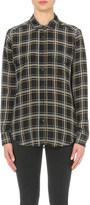 The Kooples Check-print silk shirt
