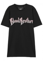 Blood Brother Dogs Embroidered Cotton T-shirt