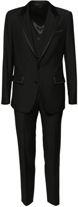 Dolce & Gabbana 3-Piece Velvet Wool Suit