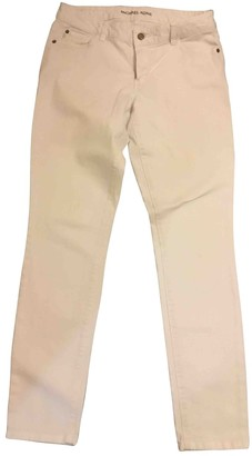 Michael Kors White Cotton - elasthane Jeans for Women
