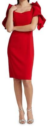 Badgley Mischka Origami Sleeve Dress